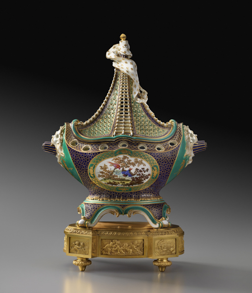 ", 'Potpourri Vase ""à Vaisseau"" ,' ca. 1759, The Frick Collection"