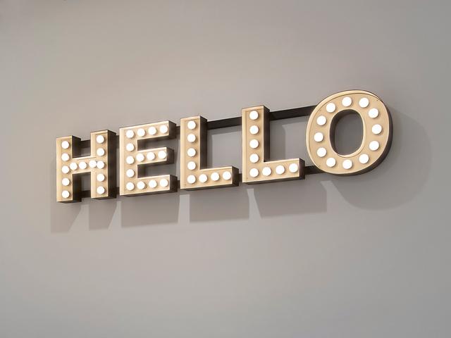 , 'Hello,' 2012, Ingleby Gallery