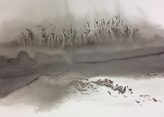Yoshio Ikezaki, 'Timeless Wind 45', 2016, Painting, Sumi Ink on paper, Kylin Gallery