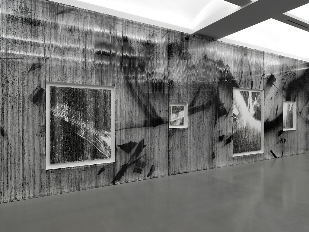 Installation view of Gregor Hildebrant: In meiner Wohnung gibt es viele Zimmer Photo by Dario Lasagni. Courtesy of the artist and Perrotin.
