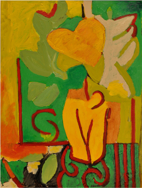 , 'Heart Flower: Yellow Heart,' 2017, Cerulean Arts