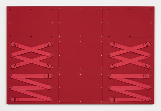 , 'Nine Panel Red,' 2017, Steve Turner