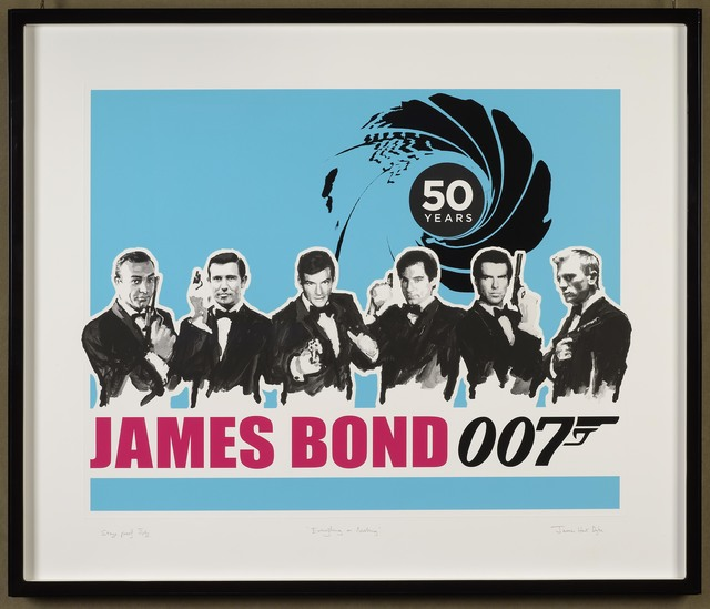 , 'Everything or Nothing – 50 Years of James Bond: Blue	,' 2012, DELAHUNTY