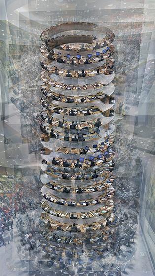 , 'Babel Spins,' 2018, Galerie Hugues Charbonneau