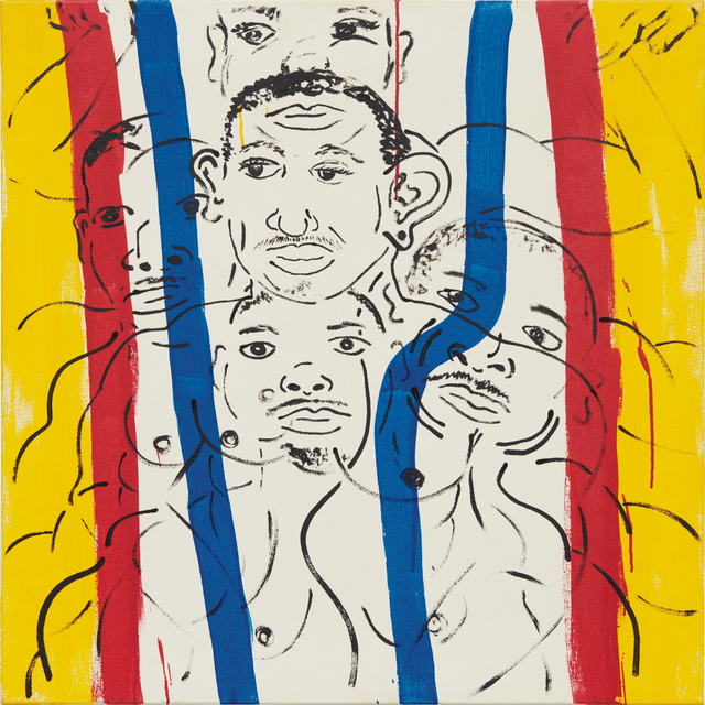 Keith Haring, 'Red-Yellow-Blue #16 (Portrait of Adolpho)', 1987, Phillips