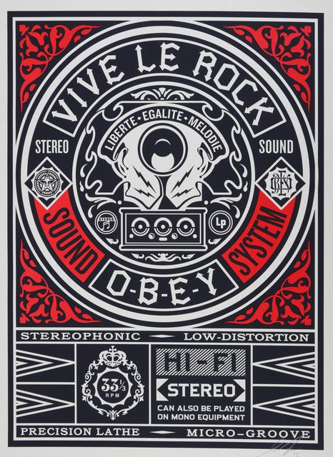 Shepard Fairey, 'Vive Le Rock', 2012, Print, Screenprint in colours, Chiswick Auctions