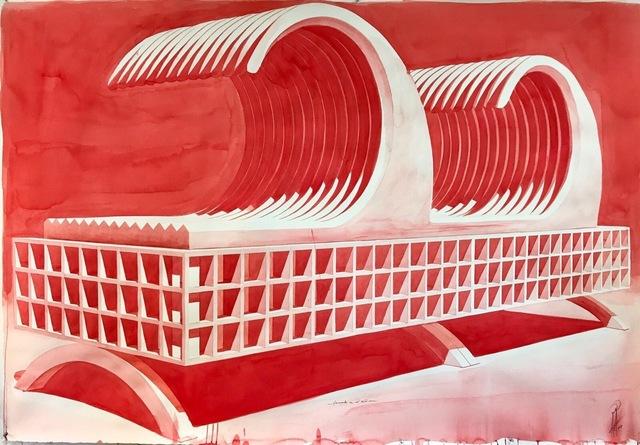 , 'Tormenta en el salón (rojo),' 2017, Casado Santapau
