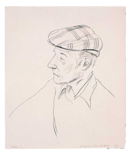 David Hockney, 'William Burroughs', 1981, Print, 1 color lithograph, Gemini G.E.L.