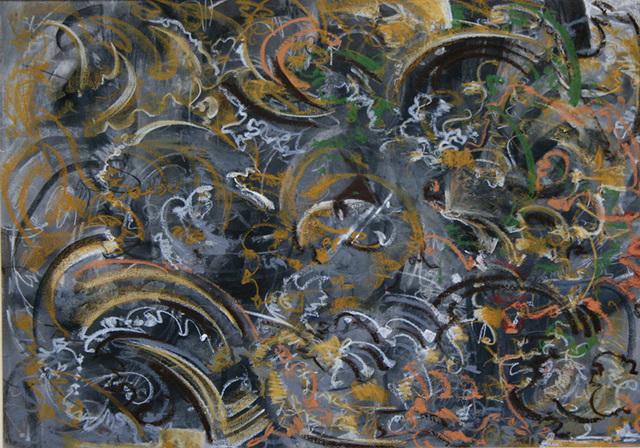 Mahmood Sabzi, 'Abstract  Yellow & Gray', 2017, Janet Rady Fine Art