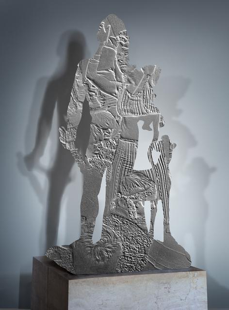 , 'Counter memories 4 (Héraclès et Télèphe, 500 av. J-C, musée du Louvre / Hippies, 1967),' 2014, Odile Ouizeman