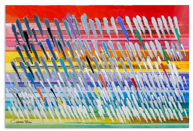 Calman Shemi, 'Rainbow ', 2020, Painting, Original Acrylic on Metal - Lacquer Coated, Eden Fine Art