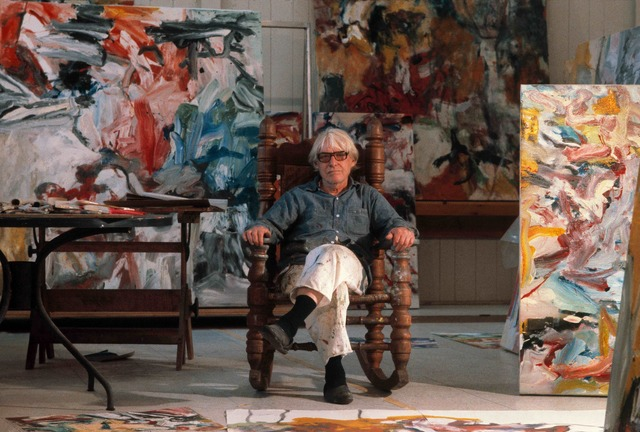 Thomas Hoepker, 'Willem De Kooning in his East Hampton studio', 1997, Galeria de Babel