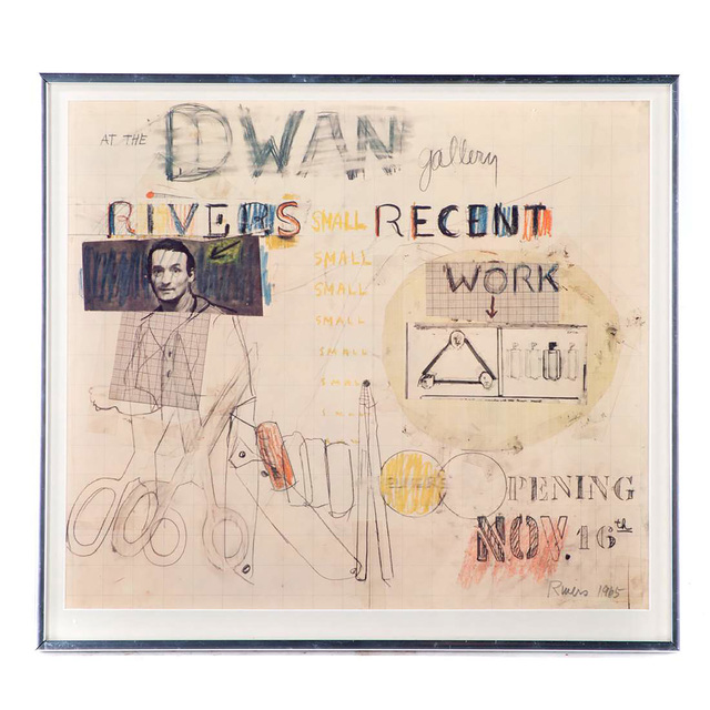 Larry Rivers, 'At The Dwan Gallery (Signed)', 1965, Ephemera or Merchandise, Silkscreen Poster (Pencil Signed, Dated & Framed), Alpha 137 Gallery