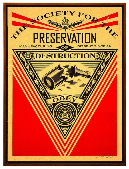 Shepard Fairey (OBEY), 'Society od Destruction', 2015, Underdogs Gallery