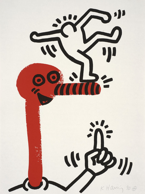 Keith Haring, 'The story of red and blue, number 20', 1990, Print, Lithograph, Invertirenarte.es
