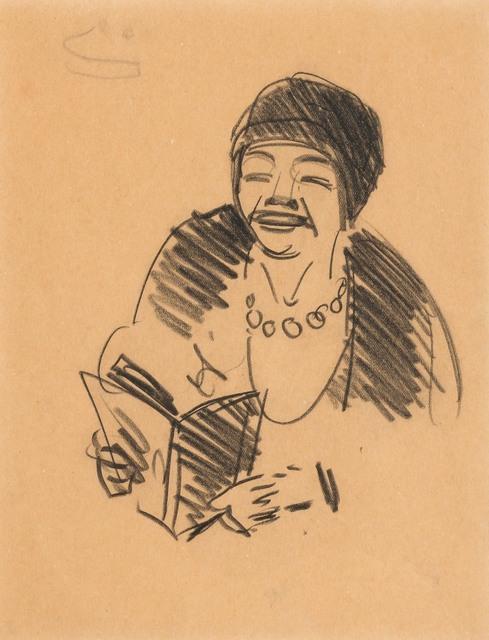 George Benjamin Luks, 'Woman With Book', Doyle