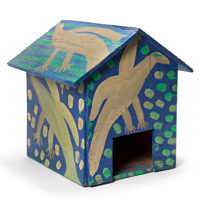 Mose Tolliver, 'Untitled (Birdhouse)', circa 1985, Mixed Media, Wood construction and house paint, Swann Auction Galleries