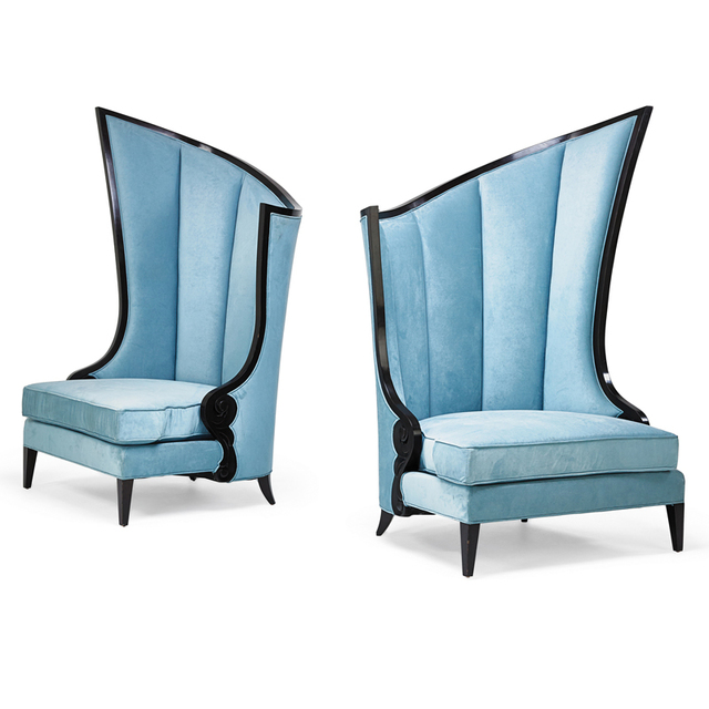 'Contemporary Pair Of Oversize Lounge Chairs, USA', second half of the 20th C., Rago/Wright