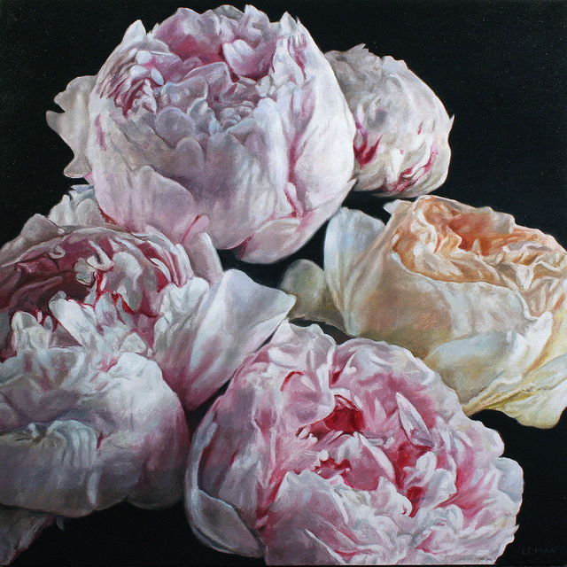 robert lemay, 'Peonies and rose', 2019, Wallace Galleries