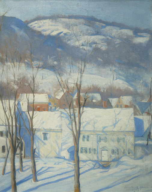 Alexander Robertson James, 'Woodstock Street, Woodstock, New Hampshire', 1917, Vose Galleries