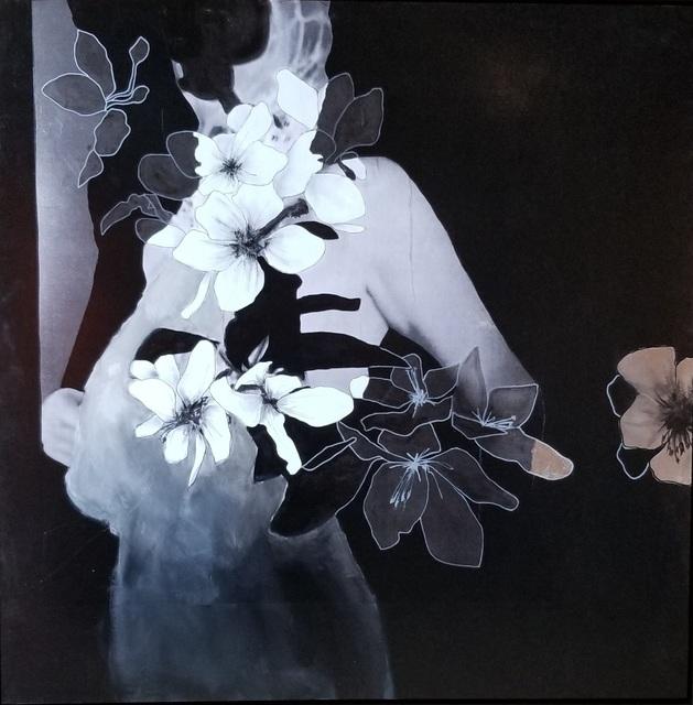 Virginie Bocaert, 'Beauty in Bow', 2019, Painting, Mixed media on board, Thompson Landry Gallery