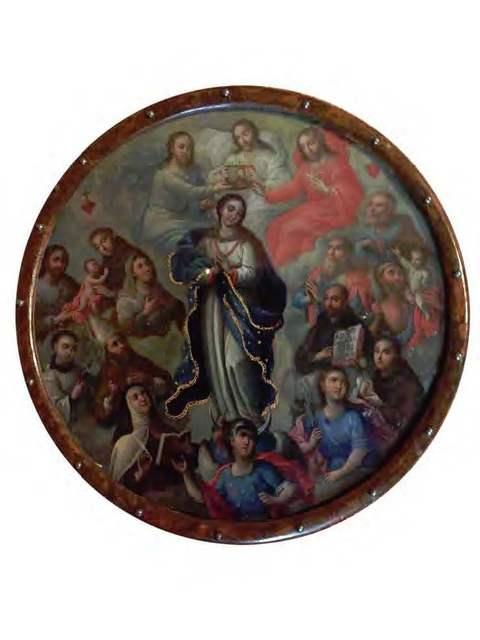 , 'Virgen inmaculada (escudo de monja),' Siglo XVIII, Mario Uvence