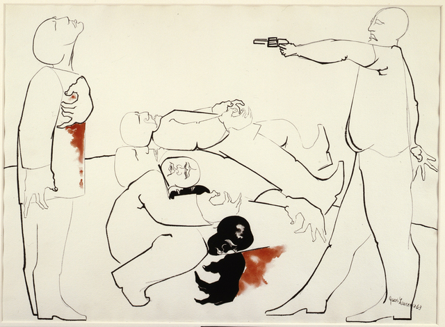 Jacob Lawrence, 'Struggle III - Assassination', 1965, DC Moore Gallery