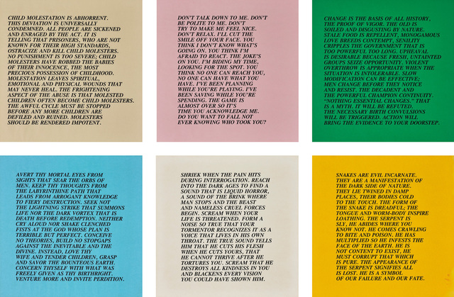 Jenny Holzer, 'Inflammatory Essays: 25 works', circa 1979-82, Print, 25 offset lithographs in black, on various wove coloured papers, with full margins., Phillips