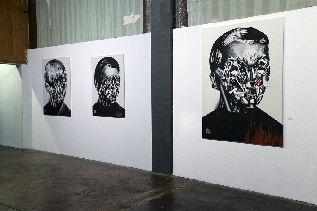 HEADS by Bohdan Burenko installation view at Anno Domini.