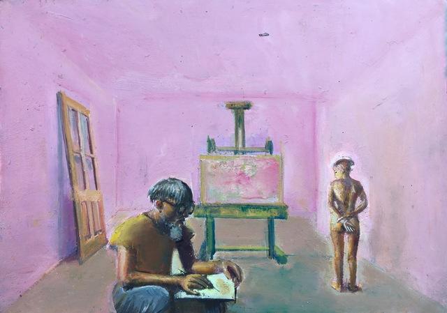 , 'Self-Portrait in the Studio,' 2018, Robert Kananaj Gallery