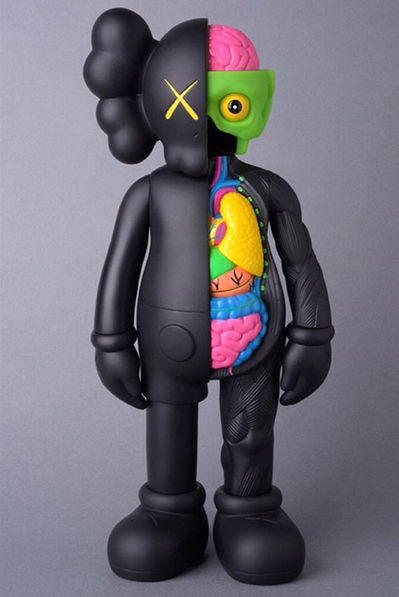 KAWS, '4 foot dissected companion (black) ', 2009, Marcel Katz Art