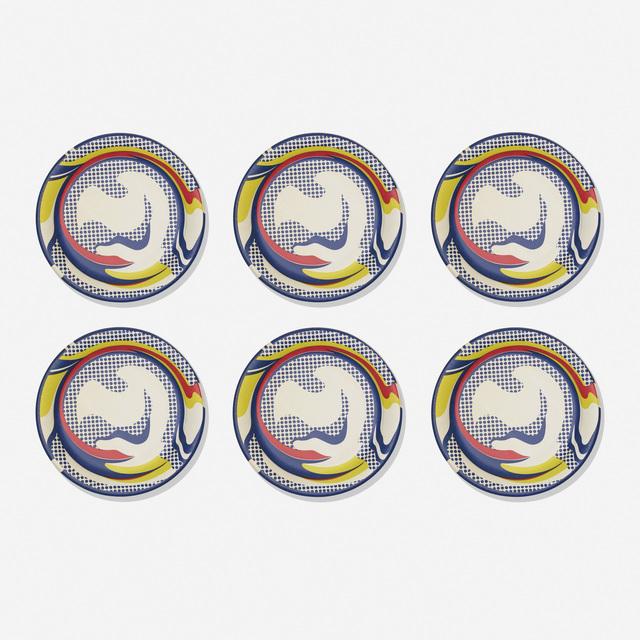 Roy Lichtenstein, 'Paper Plates (six works)', 1969, Print, Screenprint on paper plate, Rago/Wright
