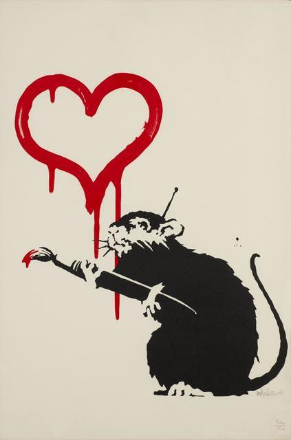 Banksy, 'Love Rat', 2004, Gerald Hartinger Fine Arts