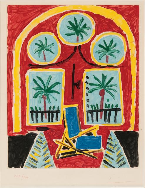 Pablo Picasso, 'Intérieur Rouge avec Transatlantique Bleu', 1959-60, Skinner