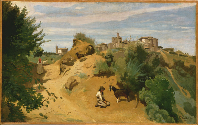 Jean-Baptiste-Camille Corot, 'Genzano', 1843, Phillips Collection