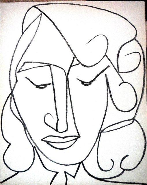 Françoise Gilot, 'Portrait Head of a Woman', 1950-1959, Lions Gallery