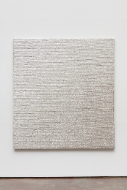 Analia Saban, 'Woven Diagonal Gradient as Weft (Bottom-right Corner to Top-left corner, White)', 2019, Arario Gallery