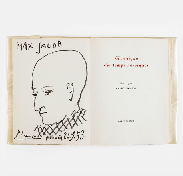 Pablo Picasso, '[Book] Max Jacob, Chronique des Temps heroiques', 1956, Books and Portfolios, Lithograph and drypoint, John Szoke