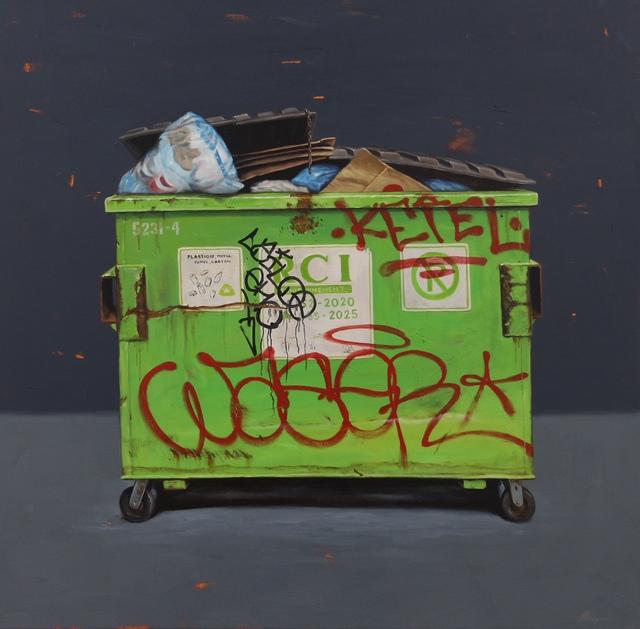 , 'Green Dumpster,' 2018, GO Gallery