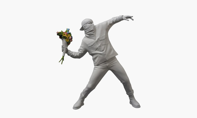 Banksy, 'Flower Bomber White', 2018, Dope! Gallery Gallery Auction