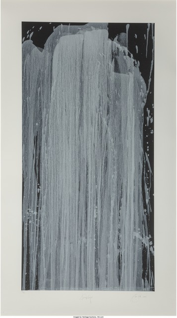 Pat Steir, 'Silver Waterfall', 2001, Heritage Auctions