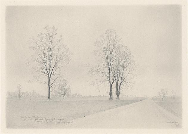 , 'Landskap med trad (Landscape with trees),' 1957, Pucker Gallery