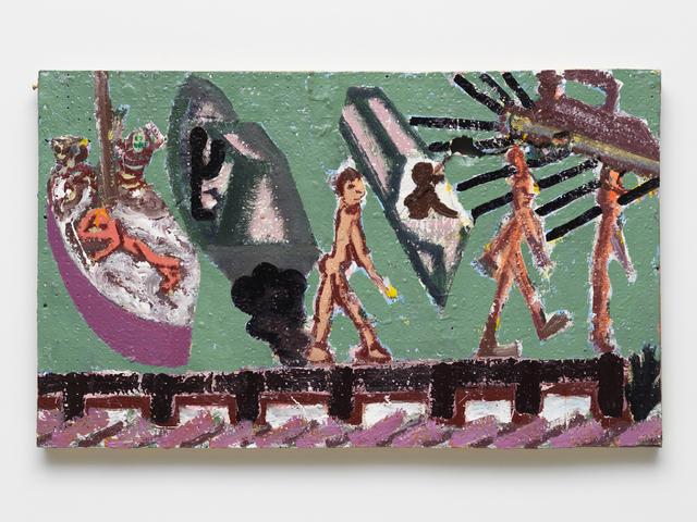 , 'wak the plank,' 2017, Maccarone