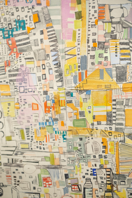 Miriam Singer, 'Fairmount Route 3', 2019, Drawing, Collage or other Work on Paper, Pencil, marker, monoprint, watercolor on paper, Paradigm Gallery + Studio