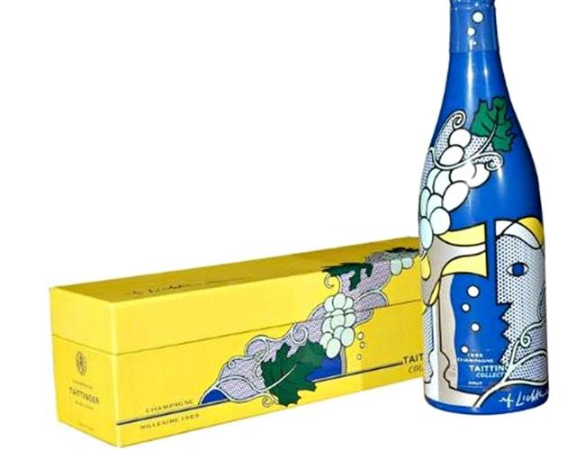 Roy Lichtenstein, 'Champagne Bottle and Presentation Case', 1965, Sculpture, Limited Edition decorative Vintage Champagne Bottle and Presentation Case. Plate Signed., Alpha 137 Gallery Gallery Auction