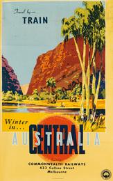 TRAVEL BY - TRAIN / WINTER IN CENTRAL AUSTRALIA