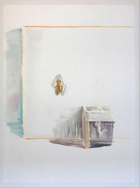 , 'Mann im Spiegel, Waschbecken,' 2014, Flowers