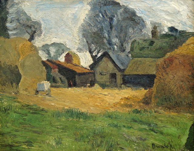 Ronald Ossory Dunlop, 'View of a farmyard', Painting, Oil on canvas, Roseberys