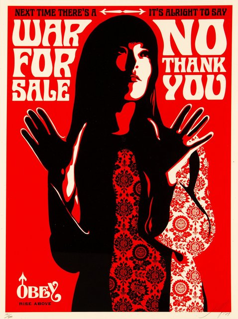 Shepard Fairey, 'War for Sale (Red)', 2007, Heritage Auctions