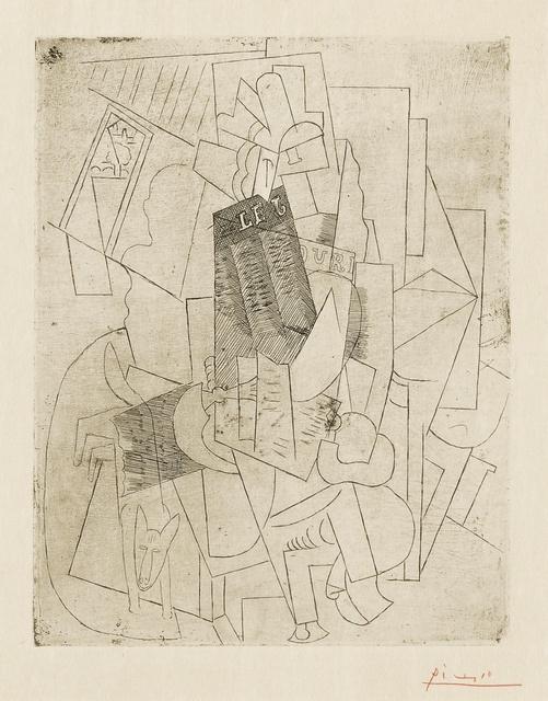 Pablo Picasso, 'L'homme au chien (Rue Schœlcher) (B. 28; Ba. 39)', 1915, Print, Etching, Sotheby's